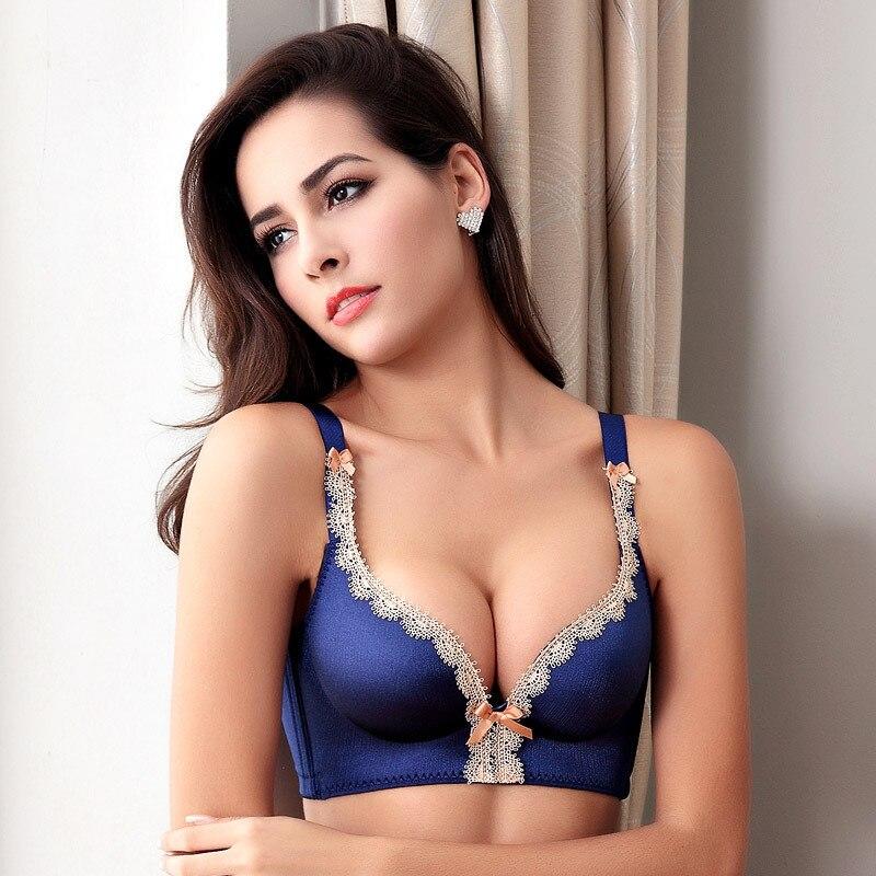 7dbd79deb2 OUDOMILIA Bras For Women Super Push Up Bra Small Breast Thick Lace Brassiere  Water Padded Woman Underwear ...
