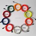 Flexível Neon LED Iluminação Do Feriado de 5.0mm EL Fio Tubo Corda 10 A Escolha da Cor, Não Incluem O Controlador, para a Decoração do Festival
