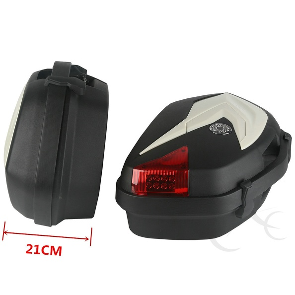 Hard ABS Saddlebags Saddle Bags With Light For KTM 125 200 DUKE 2012-2015 13 14 bjmoto 2x motorbike saddlebags pu leather swingarm bag saddle bags side tool bags storage for harley sportster