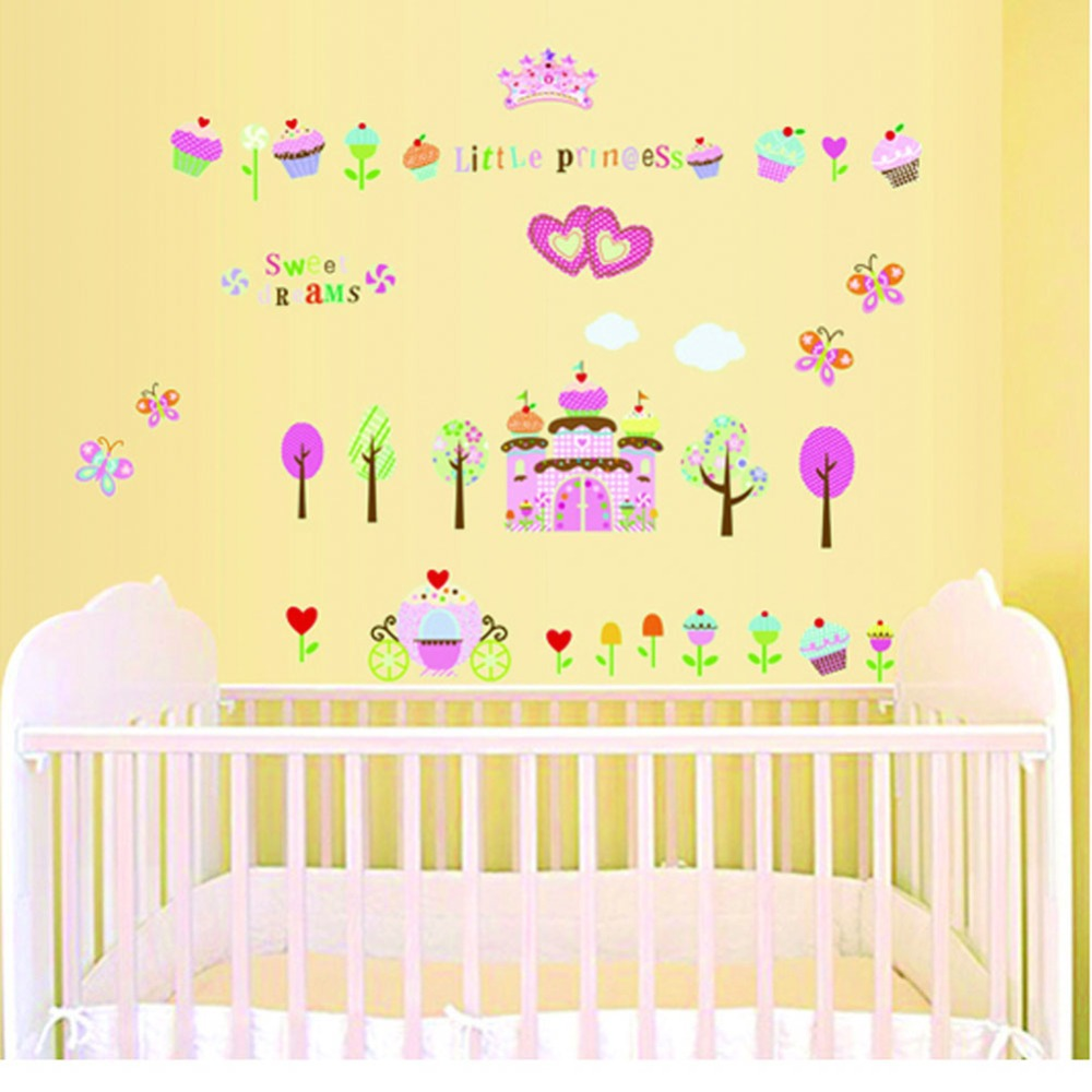 ABQ9606 Little princess luminous stickers wall home for Kids girl ...