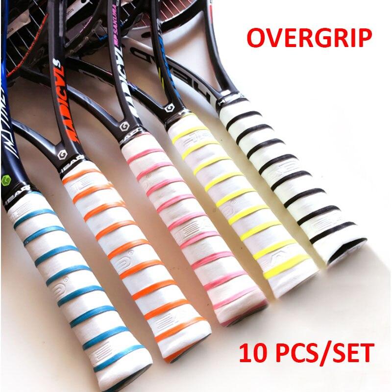 10 PCS Head Tennis Overgrip Anti Slip Padel Racket Tenis Grip Tape Outdoor Training Replacement Sweatband Badminton Accessories