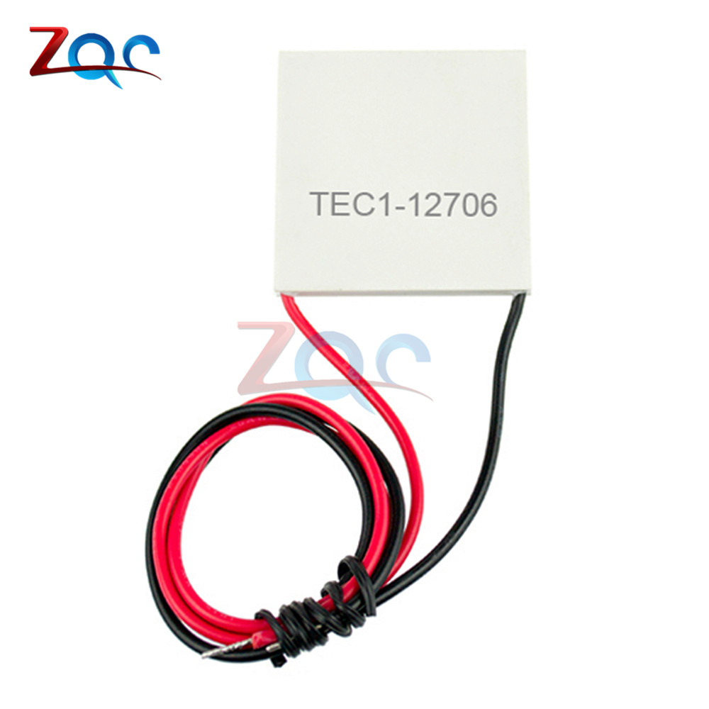 цена на TEC1-12706 12706 TEC Thermoelectric Cooler Peltier 12V New Of Semiconductor Refrigeration TEC112706 Heatsink Plate Module 12V 6A