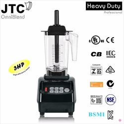 JTC Commercial Blender with PC jar Kitchen helper, Model:TM-800A, Black, 100% guaranteed, NO. 1 quality in the world