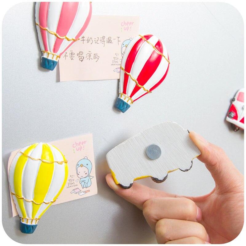 Воздушный шар и стерео автобус мультфильм декоративные магниты на холодильник магнитная Стикеры, детские игрушки, Бесплатная доставка.