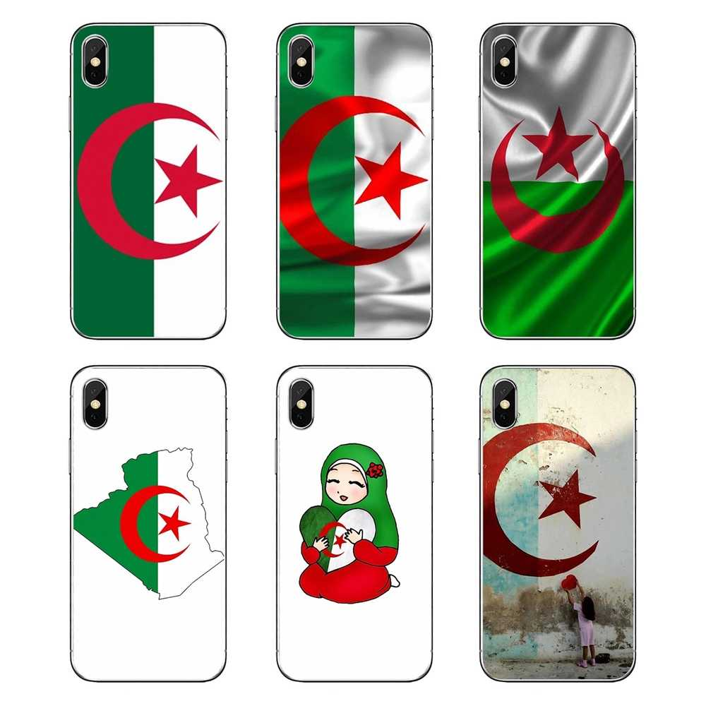 Algeria Flag untuk IPod Touch iPhone 4 4 S 5 5 S 5C Se 6 6 S 7 8 X xr X Plus MAX Transparan Soft Shell Cover