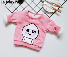 Tong Tie autumn and winter clothing new children's clothing cotton plus cashmere sweater boys and girls baby cartoon thick base