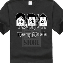 9347a3c02 Wholesale T Shirts Short Sleeve Heavy Metals Periodic Table Science Graphic Band  Music Cool Very Funny