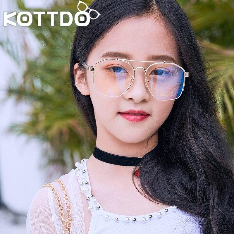 Beliebte Marke Kottdo Metall Sonnenbrille Kinder Sonnenbrille 2018 Mode Klare Gläser Kinder Sonnenbrille Uv400 Einen Einzigartigen Nationalen Stil Haben