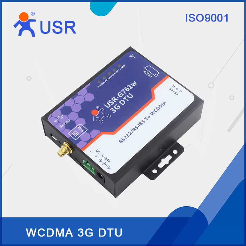 USR-G761w Free Shipping Serial 3G modems rs232 rs485 support WCDMA with CE RoHS CERTIFICATE fast free ship gprs dtu serial port turn gsm232 485 485 interface sms passthrough base station positioning usr gprs 730