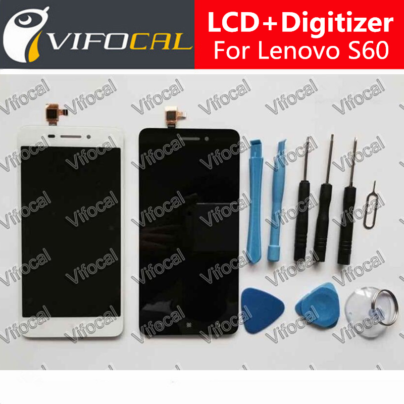 For Lenovo S60 LCD Display Touch Screen + Tools Good Digitizer Assembly Replacement Repair Accessory For S60W Phone - White смеситель для кухни рмс sl77w 017f 1