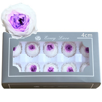 Austin Rose Preserved Flowers Immortal Rose 4CM Mothers Day Gift DIY Wedding Eternal Life Flower Material Gift Box Level A