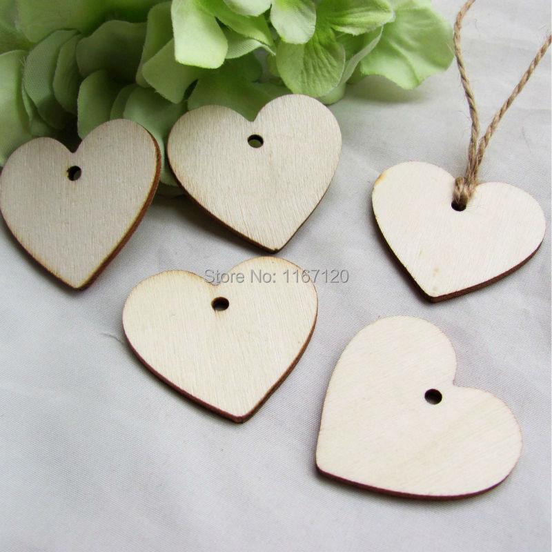200 buc Lemn Lemn Inima Tag-uri Card de nunta Wish Tree Tag-uri cadou - Produse pentru sărbători și petreceri