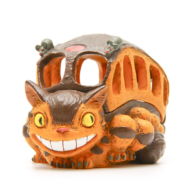 1pc 9cm New My Neighbor Totoro Cat Bus Figure Toys DIY Multifunctional Totoro Bus Resin Action Figure Model Toy Storage Box цена 2017