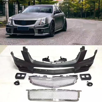 CTS CTS-V PP Upainted Front bumper racing grills Car body kit for Cadillac CTS CTS-V 08-12 image