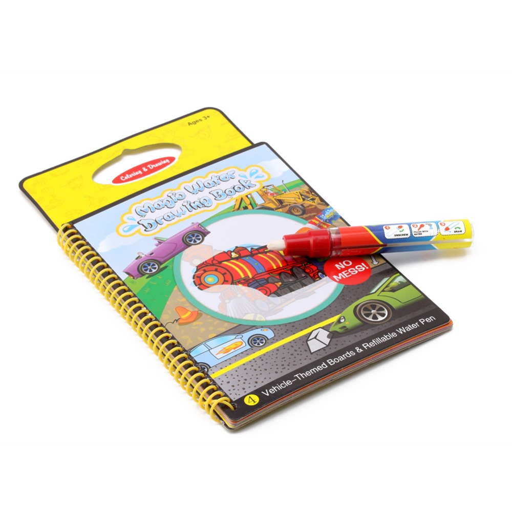 M89CMagic Kids Book Water Drawing Pen Coloring Book Water Painting ...