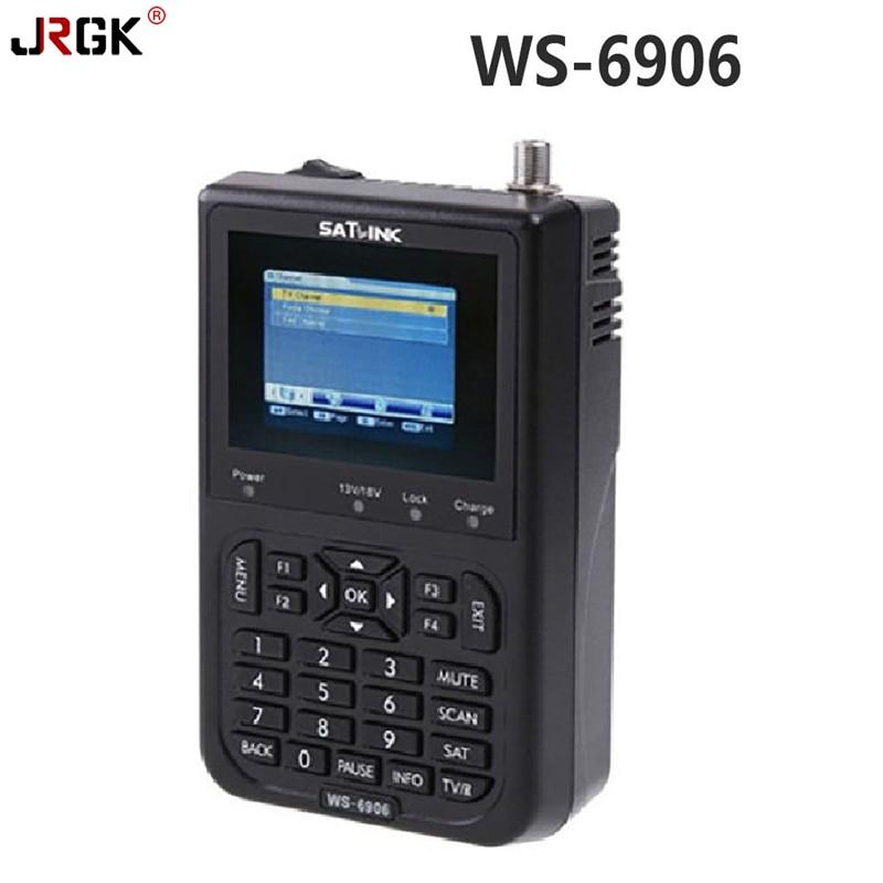 [Genuine]Satlink WS6906 Satellite Signal Finder 3.5 LCD Screen with Bulit-in Battery DVB-S FTA Data Satellite Finder for TV AV satlink ws 6908 3 5 lcd dvb s fta data digital satellite signal finder meter