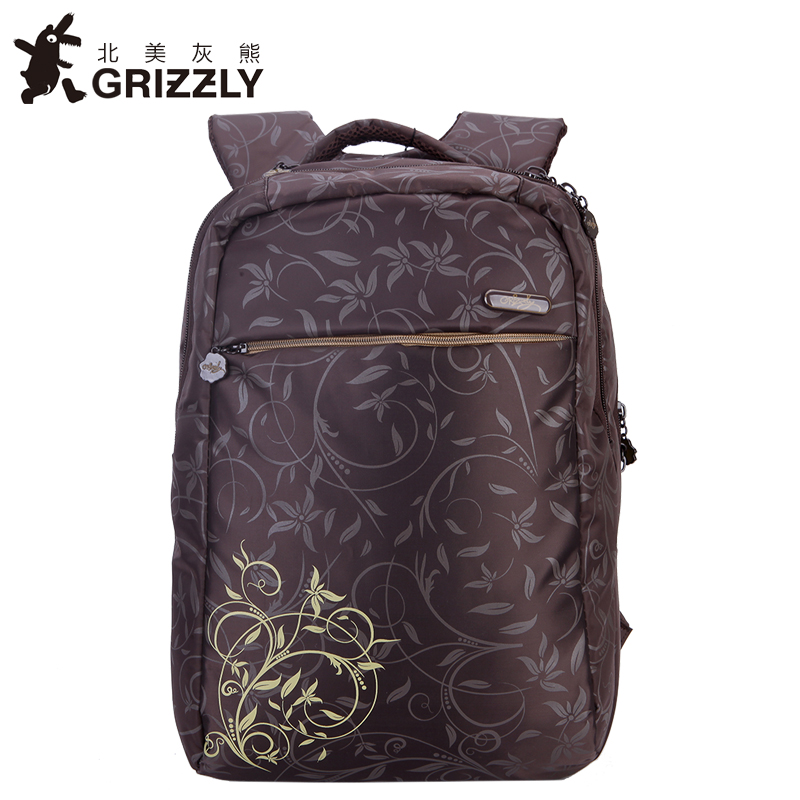где купить GRIZZLY Women Fashion Printing Pretty Backpack for Teenager Girls SchoolBags High Quality Casual Mochila Waterproof Trave Bags по лучшей цене