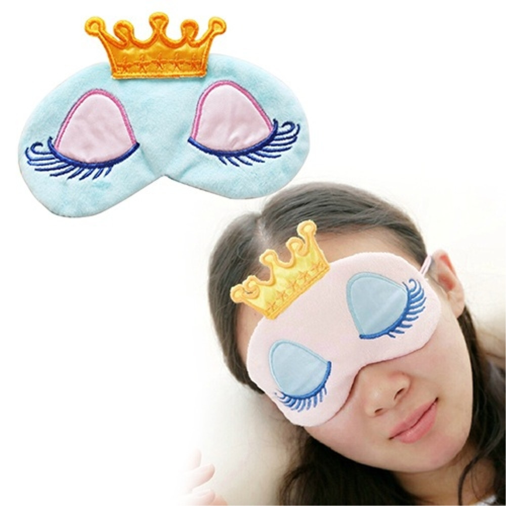 Portable Lovely Cute Cotton Long Eyelashes Crown Style Eye Shade Sleeping Eye Mask Sleep & Snoring 11.1Portable Lovely Cute Cotton Long Eyelashes Crown Style Eye Shade Sleeping Eye Mask Sleep & Snoring 11.1