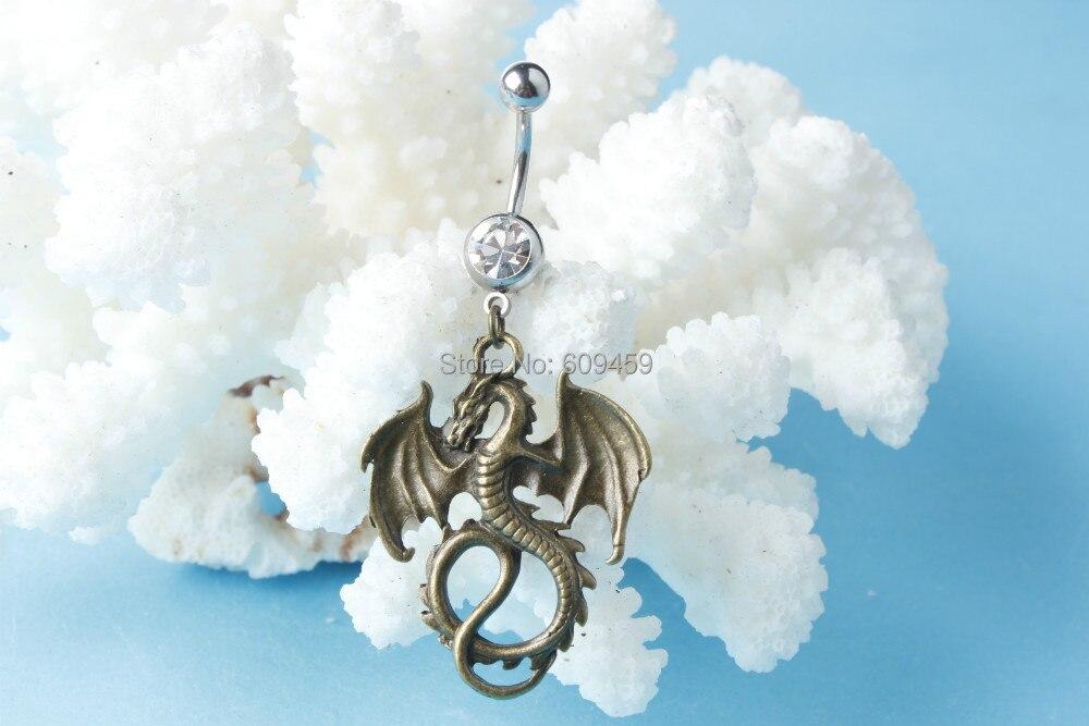 Viserion Rhaegal Drogon Dragon Charm Belly Ring Game Of Thrones