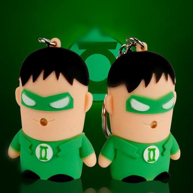 Marvel Super Hero Batman Green Lantern Action Figures Led Flashlight