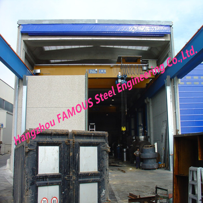 Rapid Fold Up Pack Doors For Factory Crane Doors Large Opening High Speed PVC Stacking Doors