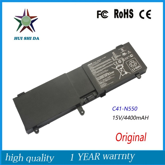 Original 15V 59Wh  New Laptop Battery for ASUS  N550JK N550J N550X47JV-SL C41-N550