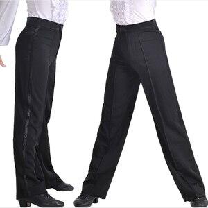 Image 3 - Pantalones de baile modernos para hombre, pantalón de baile latino, Salsa, Tango, Rumba, Samba, Cha, profesional, de baile negro