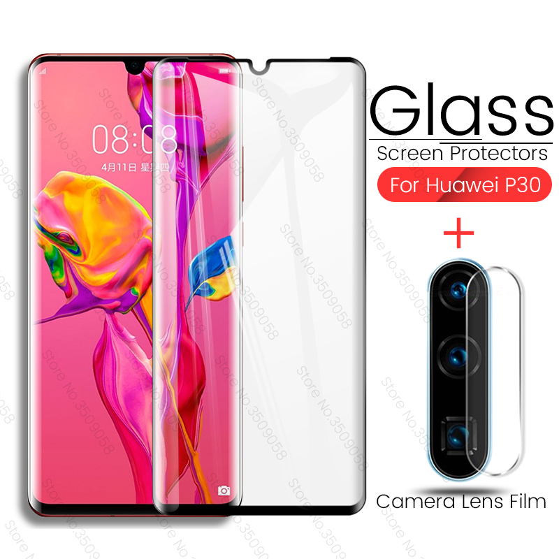 2 in 1 Camera Lens Protector for Huawei P30 Pro Tempered Glass Screen Protector for Huawei P 30 Pro Lite Light P30Pro P30Lite-in Phone Screen Protectors from Cellphones & Telecommunications