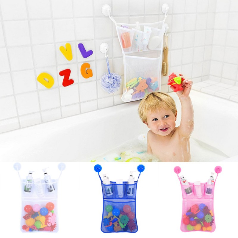 Baby Kids Bathroom Toy storage bag Bathtub bags Organizer Toy Mesh Net Storage Bag Organizer Holder Stuff Tidy