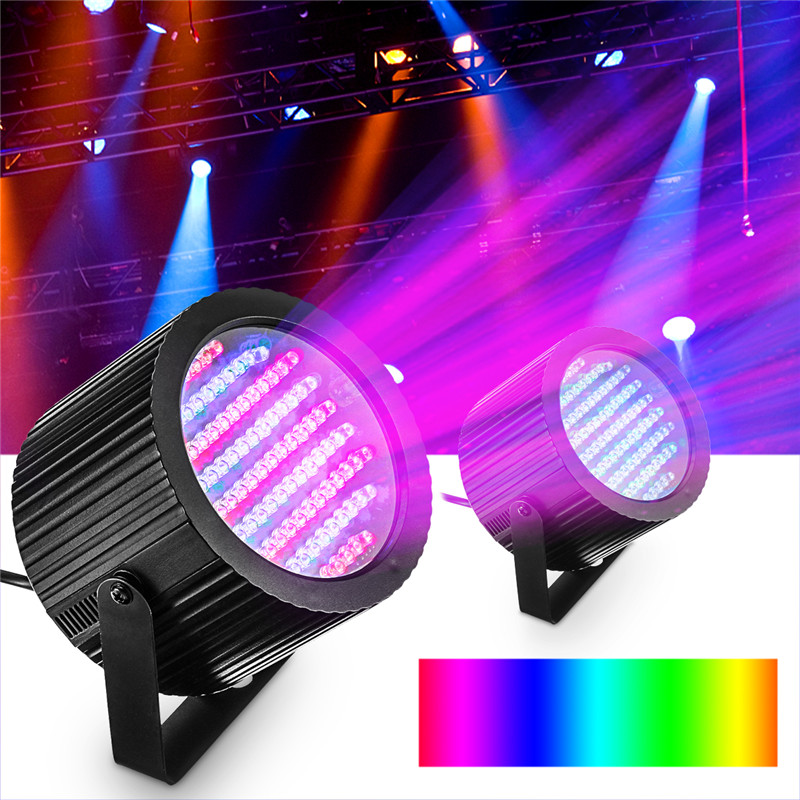 1 Pair Disco Party DJ 86 LED DMX RGB Stage Effect Light Club Bar Strobe Magic Lamp Automated And Sound Activated Programs mini rgb led party disco club dj light crystal magic ball effect stage lighting