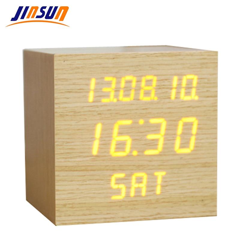 JINSUN Αναβαθμισμένη οθόνη LED Ξυπνητήρι, - Διακόσμηση σπιτιού - Φωτογραφία 2