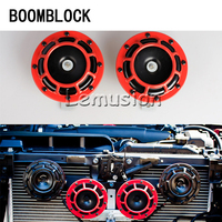 BOOMBLOCK 2pcs/set Car Motorcycle Speaker Trump Alarm Part For Mercedes W204 W210 AMG Benz Bmw E36 E90 E60 Fiat 500 Volvo S80