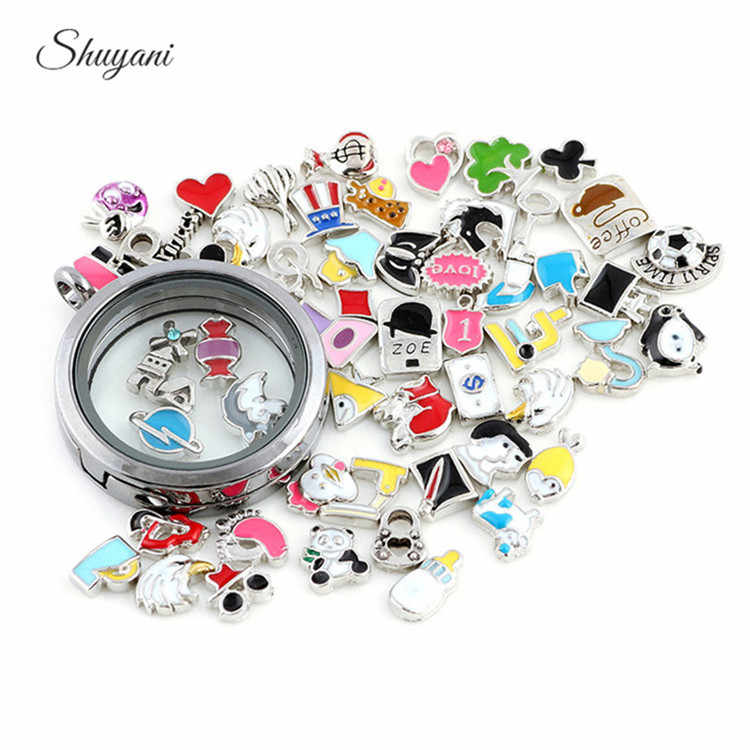 Lowest Price 20pcs/lot Mix Assorted Floating Charms for Living Memory Glass Locket Floating Locket Charms DIY Accessories
