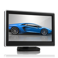 10 PCS Car Rear View Monitor 2 Ways Video Input 5 Inch TFT LCD Display Definition