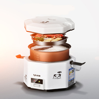 1.2L Electric pot cooker in rice cookerElectric Rice Cooker Can Be Used as Lunch Box Suit 1-2 People Free Shipping