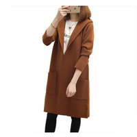 cd7e7ee23 Autumn Winter Loose Cardigan Women Jacket Coat Loose Long Sweater Womens  Hooded Plus Size Long Knit. Outono Inverno Solto Cardigan Mulheres ...