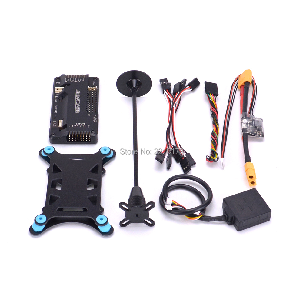 APM2.6 / APM2.8 Flight Controller Board with shell Power module Mini M8N GPS For F450 Quadcopter Multicopter mini ublox neo m8n gps module with compasses for pixracer flight controller rc multicopter models diy accessories