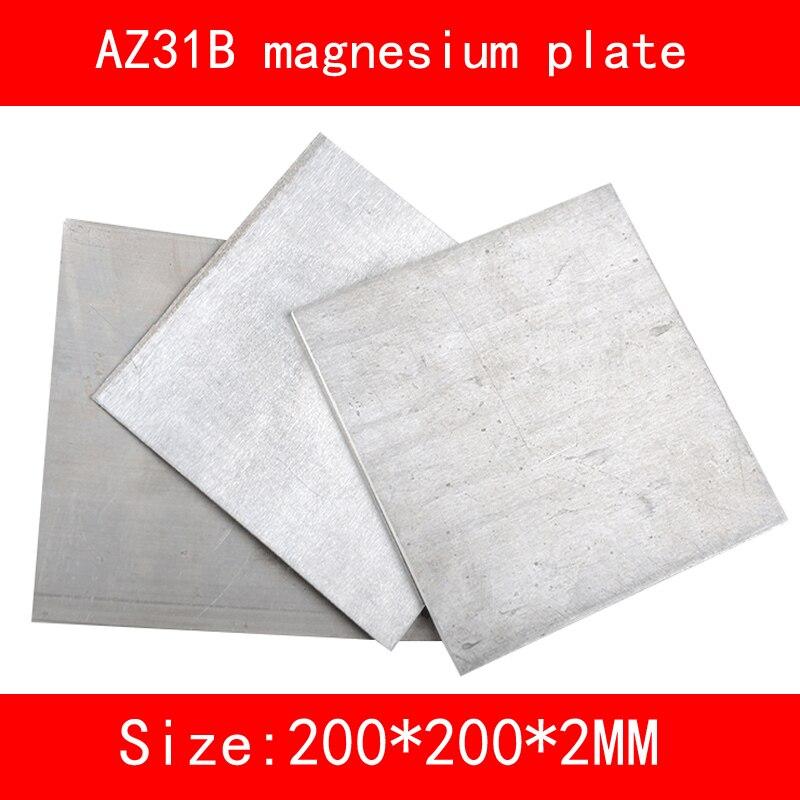size:length*width*thickness 200mm*200mm*2mm AZ31B Magnesium alloy plate Mg metal sheet 1sheet matte surface 3k 100% carbon fiber plate sheet 2mm thickness