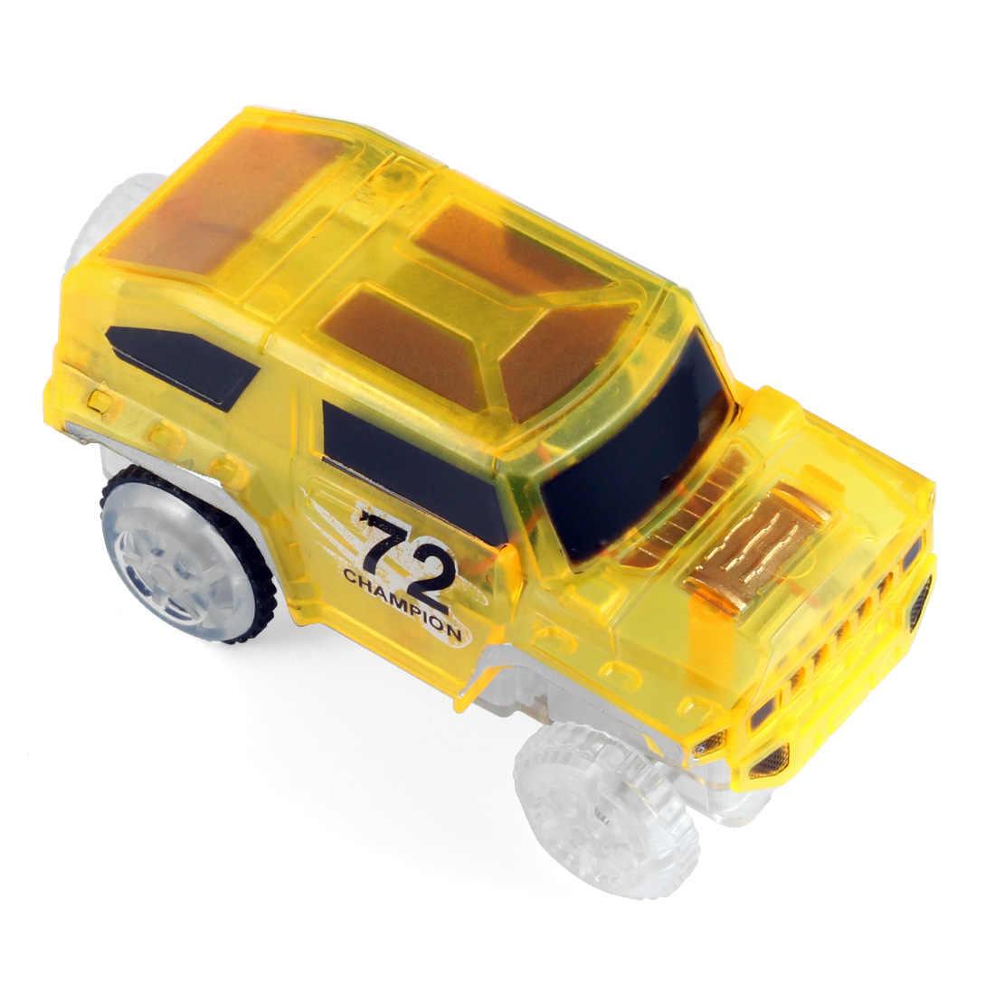 1 шт. светодиодный автомобиль для магические треки, электроника, автомобильные игрушки с мигающими огнями, DIY Гоночные Игрушки для мальчиков, лучший подарок
