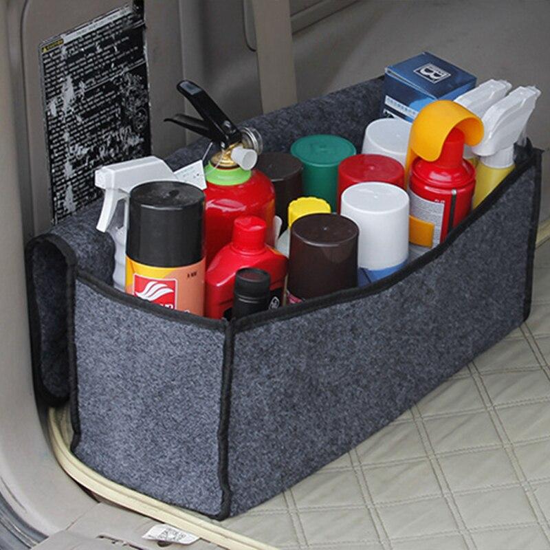 Органайзер для багажника автомобиля, сумка для хранения, складная, войлочная, авто, органайзер для багажника, коробка для хранения, для путешествий, для багажа, инструменты, аккуратный, для автомобиля, стильный, серый
