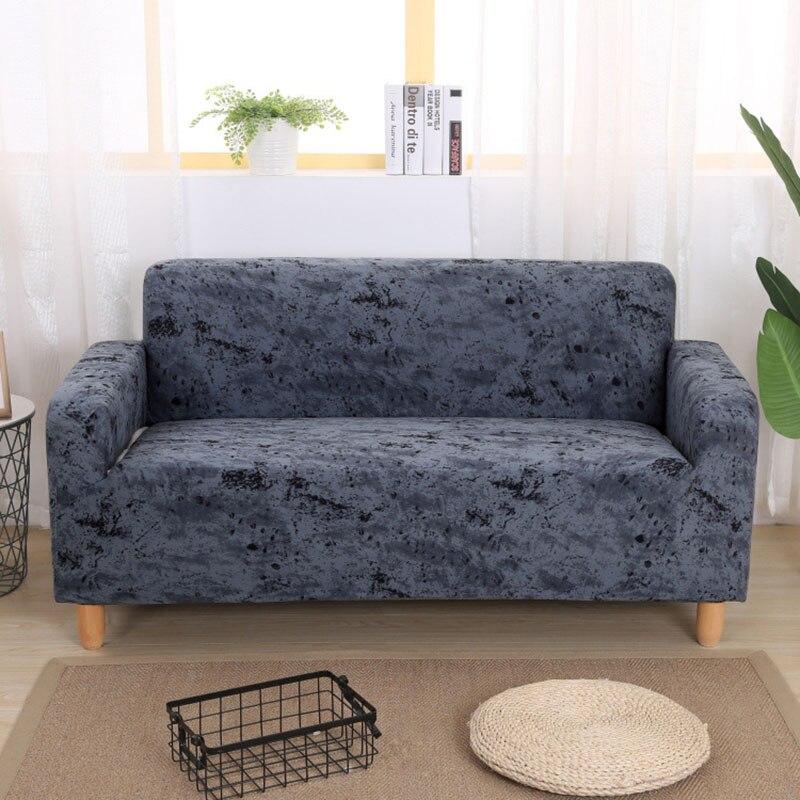 Enipate Inkjet Pattern Elastic Stretch Denim Solid Universal Sofa