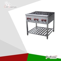 PKJG-GH6A stainless steel gas cooking range with 6 burners gas stove