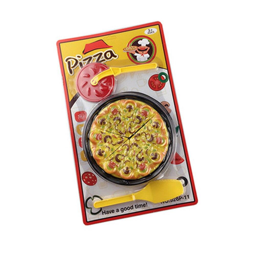 Играть дома Игрушечные лошадки пицца моделирование Кухонные игрушки для детей играть Игрушечные лошадки с Посуда-один пиццы