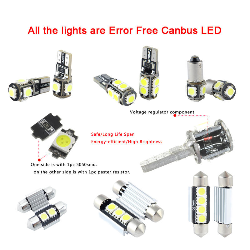 XIEYOU 13 ədəd LED Canbus Daxili işıqlar dəsti A7 S7 RS7 C7 - Avtomobil işıqları - Fotoqrafiya 2