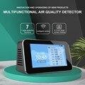 Digital co2 pm2.5 hcho tvoc usb detector de gás dióxido carbono monitor de qualidade do ar ao ar livre medidor co2 formaldeído monitor