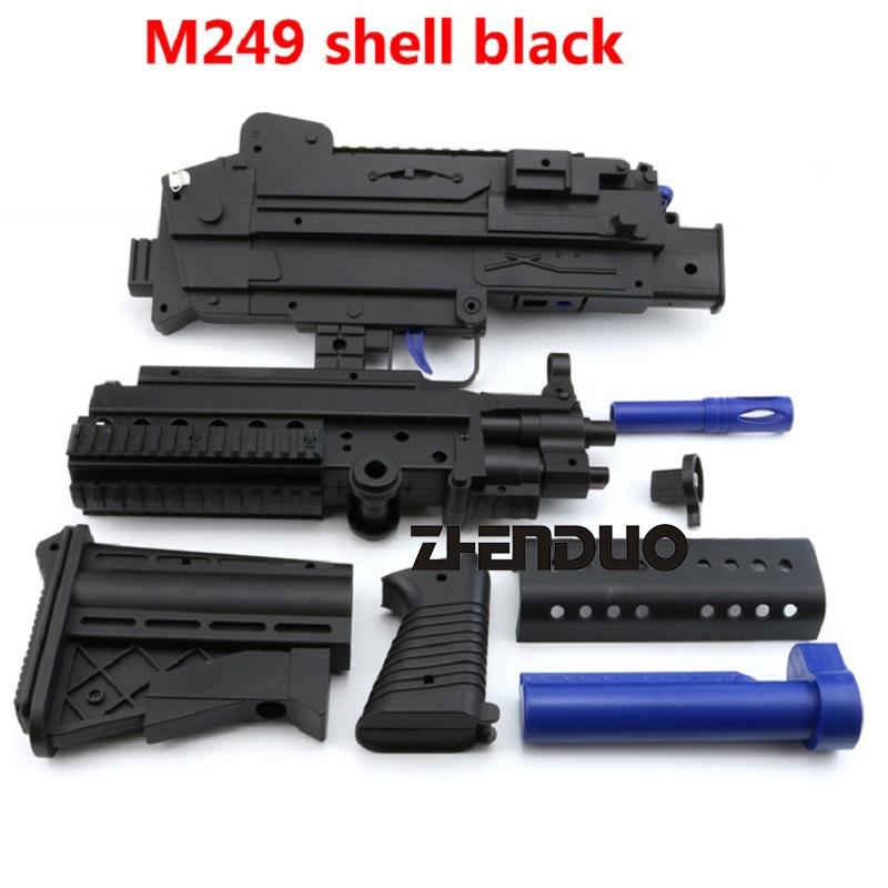 Zhenduo Toys M249 Shell Toy Gun Gel Ball Blaster Accessories Children Outdoor Hobby Free pet dog ball shape toothbrush fun toy