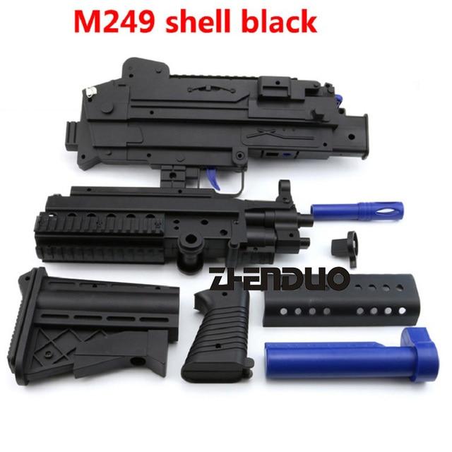 Zhenduo Juguetes M249 De Pistola De Juguete Gel Bola Juegos