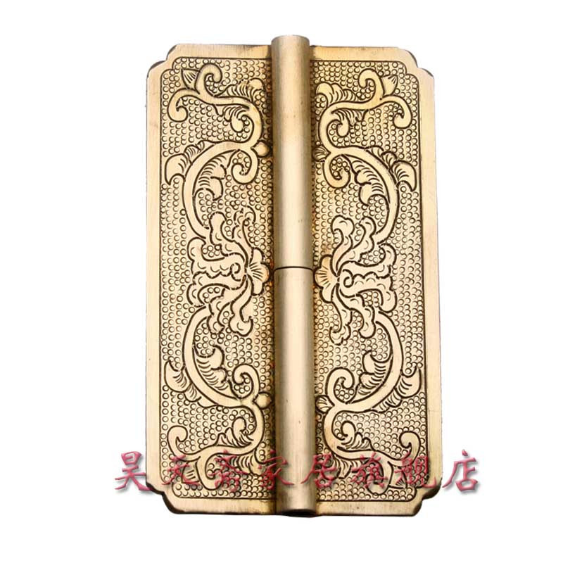 [Haotian vegetarian] copper hinge hinge antique Ming and Qing Chinese decoration doors copper live HTF-048 [haotian vegetarian] chinese antique door hinge copper hinge htf 108 paragraph three flowers