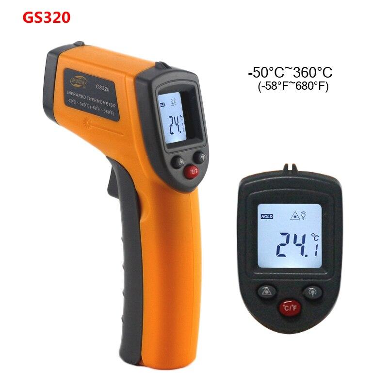 GS320 GM320 GM900 Thermomètre Numérique Rouge Laser Infrarouge Thermomètre Sans Contact IR Pyromètre LCD Température Compteur Gun Point