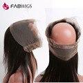 360 Кружева Фронтальная Закрытие с Волосами Младенца Бразильский Прямо Полное Кружева Фронтальная с Регулируемыми Ремнями 360 Кружева Девственные Волосы Кусок